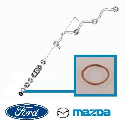 Porlasztó alátét, Injektor tömítés Ford, Mazda