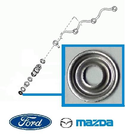 Porlasztó alátét, Injektor tömítés Ford, Mazda (roppantó gyűrű)